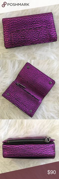 """3.1 Phillip Lim pashli phone wallet Brand new, with tag. Never been used.  Will hold iPhone 5-7 (will not fit plus) Zip coin compartment. Two inner slots for card and cash storage. Back pocket can hold phone.  - 100% Pebbled leather  - 3.25""""H X 5.5""""W X .75""""D  - Style # AR13-0825SKC 3.1 Phillip Lim Bags Wallets"""