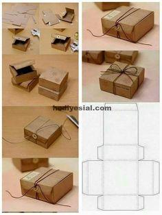 Gift Box sveta_arhipova: MK Shkatulochka cardboard with two Diy Gift Box, Diy Gifts, Gift Boxes, Diy Paper, Paper Crafts, Foam Crafts, Paper Art, Pinterest Diy, Craft Box
