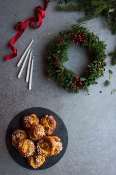 Saffron Knots with Orange Almond Filling. Celebrate St. Lucia's Day by gifting these gorgeous saffron buns. From the My Blue&White Kitchen blog