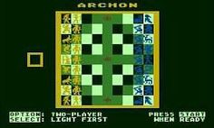 Archon game (1983) - Atari 800 screenshot
