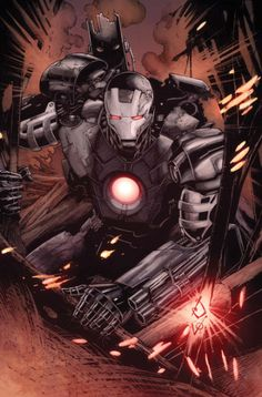war machine in iron man variant Comic Book Characters, Marvel Characters, Comic Character, Comic Books Art, Comic Art, Marvel Art, Marvel Dc Comics, Marvel Avengers, Marvel Universe
