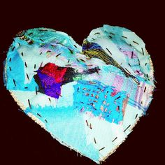 Handmade patchwork heart