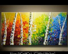 contemporary wall art Modern Textured Painting,Impasto Landscape Textured Modern Palette Knife Painting,Painting on Canvas. Chen 1012