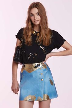 Vintage Chanel Eustacia Calfskin Skirt | Shop Vintage at Nasty Gal!