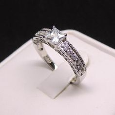 Annabelle AAA Cubic Zirconia 925 Sterling Silver Engagement Wedding Ring