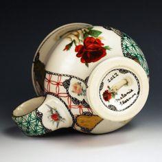Kaffee Tasse (coffee cup), handpainted porcelain | Melanie Sherman | Ceramic Artist