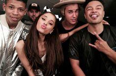 Empire's Hakeem, Ariana Grande, and Justin Bieber. Ariana Grande Justin Bieber, Ariana And Justin, I Love Justin Bieber, Lip Sync, Dangerous Woman, Queen, Celebs, Celebrities, My Idol
