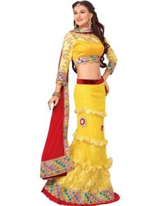 Look stunningly beautiful on that special occasion and steal the show with style. Find extraordinary and stylish designs in #Lehenga collection on Ethnic Station. Shop now @ http://www.ethnicstation.com/women/lehenga-1/yellow-embroidered-lehenga-MJ1911