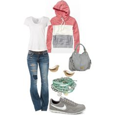 A fashion look from January 2013 featuring Bobi t-shirts, Dollhouse jeans and NIKE sneakers. Browse and shop related looks.