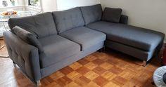 Compact corner chaise end sofa
