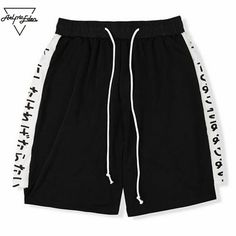 Summer Beach Shorts Men Casual Shorts High Quality Letter Print Bodybuilding Shorts Loose 4 Color Elastic Shorts