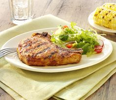 Simple #BBQ techniques yield moist, delicious flavors on #pork chops! #recipe
