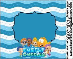 Right click and save as (site is in spanish) Party Printables, Free Printables, Bubble Guppies Birthday, Guppy, I Party, Party Ideas, Bar, Birthday Decorations, Bubbles
