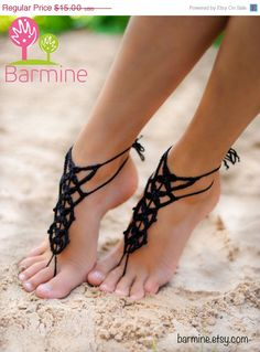 Hey, I found this really awesome Etsy listing at https://www.etsy.com/listing/162370181/black-friday-sale-black-crochet-barefoot Footless Sandals, Sexy Sandals, Bare Foot Sandals, Summer Sandals, Shoes Sandals, Dress Up Shoes, Crochet Barefoot Sandals, Bridesmaid Accessories, Nude Shoes
