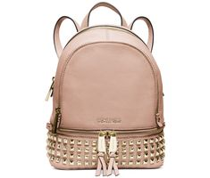 Michael Kors Rhea Small Studded Leather Backpack Ballet ** Click image to review more details. (This is an affiliate link) #MichaelKorsHandbags