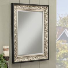 Kate And Laurel Coolidge Wall Vanity Mirror Champagne Gold