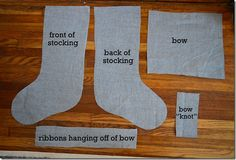 """how to make christmas stocking 