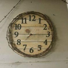 Pallet, Barbed Wire Clock