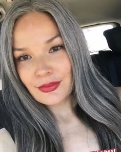 Gray Hair Growing Out, Grow Hair, Grey Hair Inspiration, Gray Hair Highlights, Salt And Pepper Hair, Transition To Gray Hair, Grey Scale, Silver Grey Hair, Going Gray