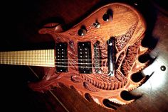 unique guitar | Carved guitars from Alabama, United States custom carved guitar by ...