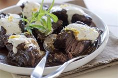 Slow Cooker Short Ribs with Horseradish Cream (3rd recipe listed) More