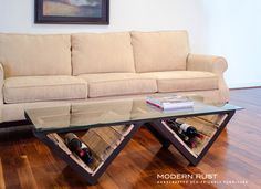 M Street coffee table / 60 long by ModernRust on Etsy