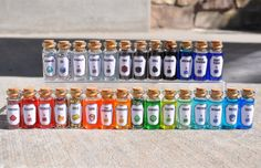 Medium Minecraft Potions and Potion Ingredients by CutieZCreations Minecraft Room, Cool Minecraft, Minecraft Skins, Minecraft Crafts, Minecraft Furniture, Minecraft Buildings, Bottle Jewelry, Bottle Charms, Bottle Necklace