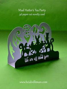 Mad Hatter's Tea Party  Novelty Card  Paper Cut by HeidiVilkman