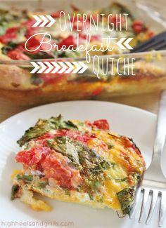 High Heels & Grills: Overnight Breakfast Quiche