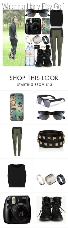 """""""Watching Harry Play Golf"""" by pilar-directioner99 ❤ liked on Polyvore featuring Icon Eyewear, H&M, Valentino, Topshop, Just Acces and Mineral"""