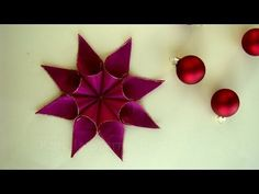 Christmas stars crafts with gift ribbon – DIY Christmas decorations – make stars … - Crafts For Christmas Christmas Origami, Christmas Star, Christmas Crafts, Christmas Decorations, Gift Ribbon, Stars Craft, Origami Stars, How To Make, Gifts