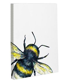 This Bumble Bee Wrapped Canvas is perfect! #zulilyfinds