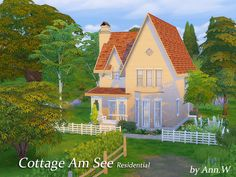 2 Stories lovely cottage with beautiful garden. 2 BR 2BA Found in TSR Category 'Sims 4 Residential Lots'