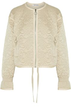 Elizabeth and James | Daisy quilted silk-satin jacket | NET-A-PORTER.COM