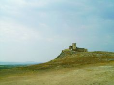 old Romanian castle alone on a hill Romanian Castles, Romania People, I Capture The Castle, Travel Around The World, Around The Worlds, Medieval Fortress, My Dream, Places To See, Monument Valley