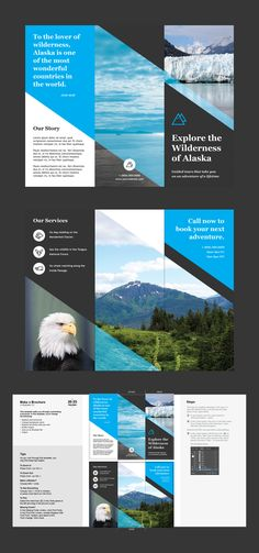 Brochure with Instructions. Buy this stock template and explore similar templates at Adobe Stock Layout Design, Graphisches Design, Brochure Templates Free Download, Travel Brochure Template, Graphic Design Brochure, Brochure Layout, Flyer Layout, Power Points, Design Websites