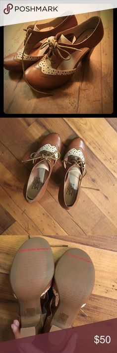 Mix Mooz heels So cute! Cut outs on the sides, so comfy! Never worn! Miz Mooz Shoes Heels