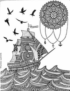 Creative Image of Doodle Art Coloring Pages . Doodle Art Coloring Pages Doodle Art Coloring Pages Hot Air Balloons Doodle Art Doodle And Doodle Art Drawing, Dark Art Drawings, Art Drawings Beautiful, Zentangle Drawings, Mandala Drawing, Art Drawings Sketches, Zentangles, Mandala Art Lesson, Mandala Artwork