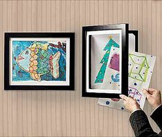 Frames that store up to 50 pieces of artwork so you can store and display your children's art projects.