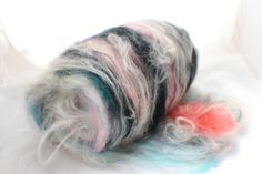 SUSHI - Silk Spinning fibre -Fiber Batt -Roving  UK 50g 2.5 oz