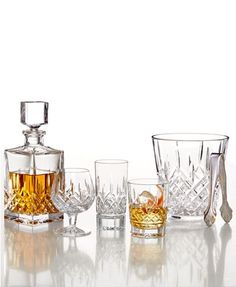 Waterford Barware, Lismore Collection & Reviews - Bar & Wine - Dining - Macy's Waterford Lismore, Waterford Crystal, Drinkware, Barware, Square Glass Vase, Bar Accessories, Timeless Elegance, Tea Pots, Wine