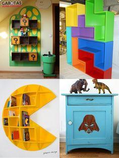 Love this Tetris bookshelf!