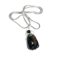 This lovely #gemstone #necklace features #PicassoMarble #pendant with a tigers eye bead topper, wrapped in sterling silver half-round wire. #picassomarblependant #pendant #southwestpendant #bohopendant #picassomarblejewelry #gemstonependant #stonependant #gypsypendant #hippiependant #bohemianpendant #picassomarblependant #necklace #bohonecklace #picassomarblenecklace #gemstonenecklace #stonenecklace #gypsynecklace #hippienecklace #bohemiannecklace