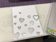 DIY Stencil with Die Cuts and Distress Ink by Juliana Michaels: How to make your own stencil!