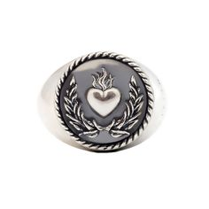 Blessed Love Ring #viviangioielli #silver #love #blessedlove #ring #heartring #exvoto #sacredring #sacredheart #heart