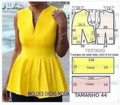 Amazing Sewing Patterns Clone Your Clothes Ideas. Enchanting Sewing Patterns Clone Your Clothes Ideas. Make Your Own Clothes, Diy Clothes, Clothes For Women, Blouse Patterns, Clothing Patterns, Look Fashion, Fashion Outfits, Costura Fashion, Bodice Pattern
