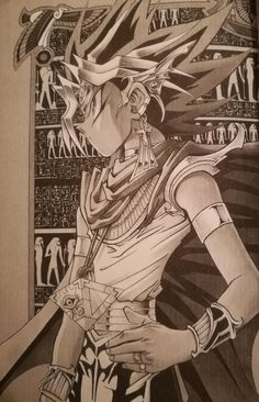 Atem Fanarts Anime, Manga Anime, Anime Art, Blade Runner, Dessin Yu Gi Oh, Yu Ki Oh, Dark Side Of Dimensions, Yugioh Yami, Fan Art