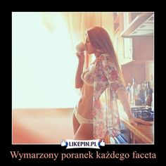 Wymarzony poranek każdego faceta… Good Luck Today, Funny Adult Memes, Hot Country Girls, Blonde Beauty, Stretch Lace, Sexy Hot Girls, Women Lingerie, Fit Women, Beautiful Women
