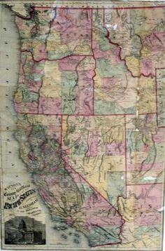 WATSON'S NEW COUNTY RAILROAD MAP Of The PACIFIC STATES (1875)