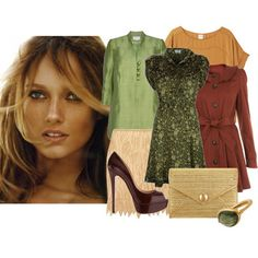 Soft autumn: My colouring are similar, although my hair is slightly darker.  Greens, oranges and reds look lovely to me.
